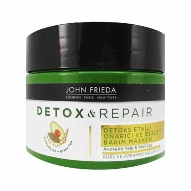 John Frieda JOHN FRIEDA Detox & Repair - Kuru ve Yıpranmış Saçlar için Bakım Maskesi 250 ml Renksiz